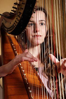 Harp Music Student